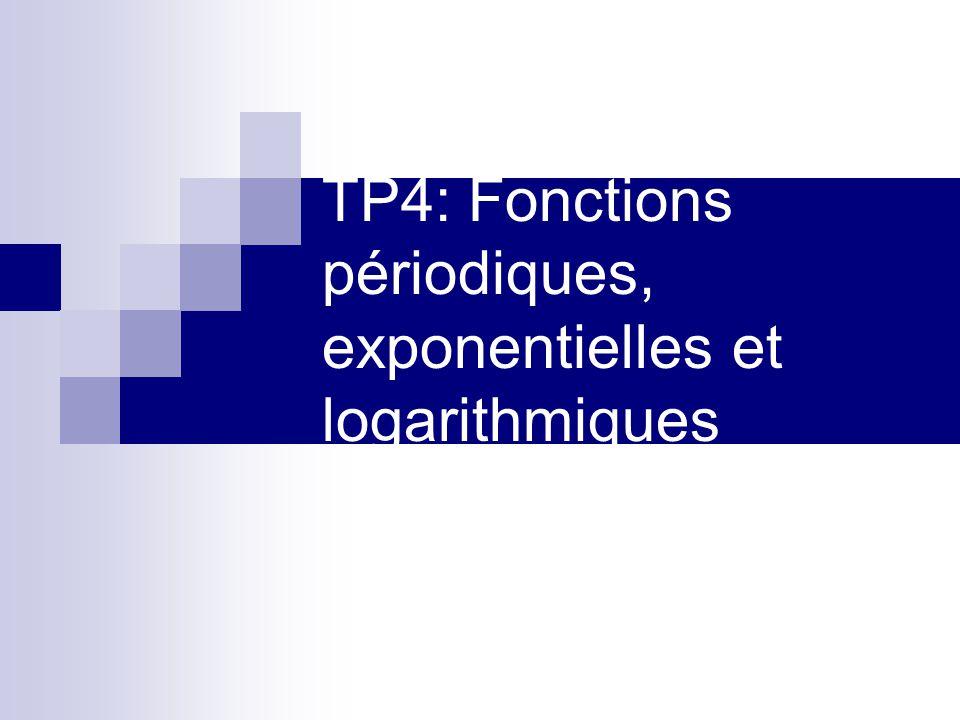 TP4: Fonctions périodiques, exponentielles et logarithmiques
