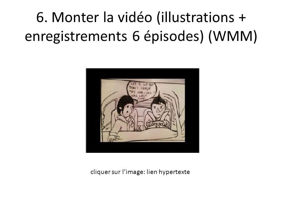 6. Monter la vidéo (illustrations + enregistrements 6 épisodes) (WMM) cliquer sur l'image: lien hypertexte