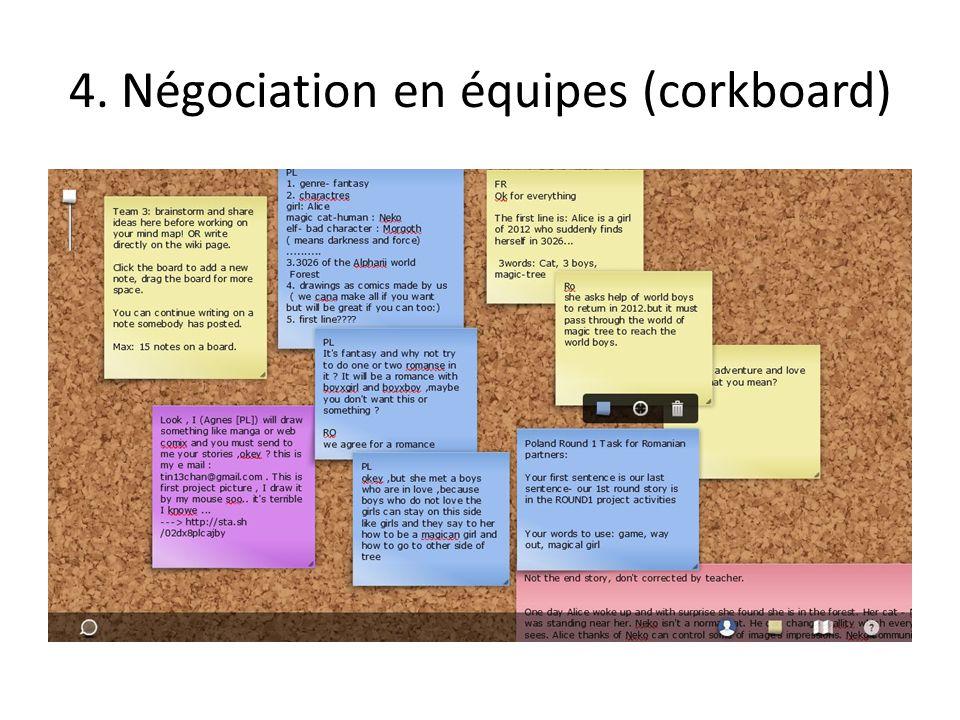 4. Négociation en équipes (corkboard)