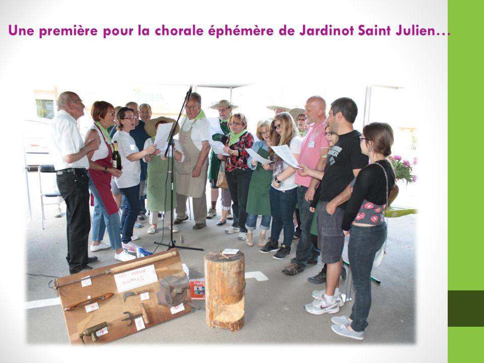 Une première pour la chorale éphémère de Jardinot Saint Julien…