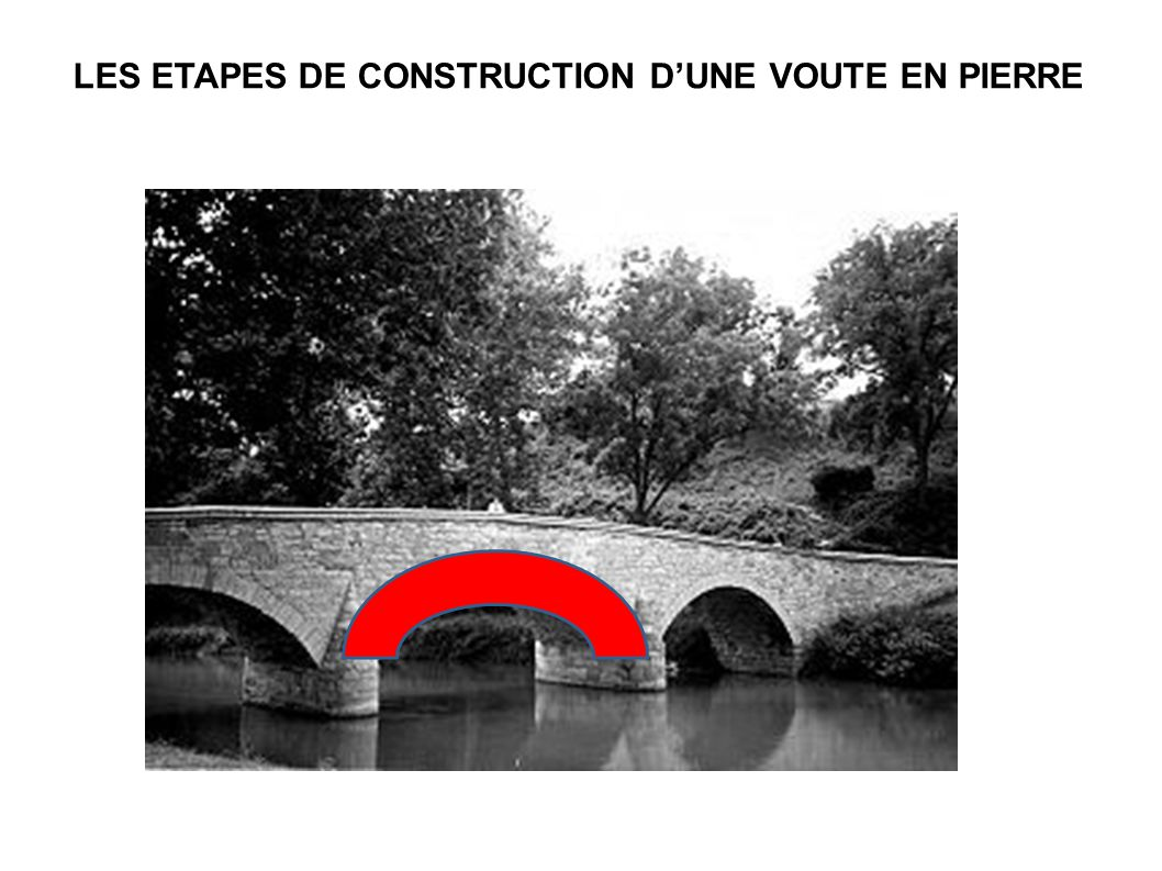 LES ETAPES DE CONSTRUCTION D'UNE VOUTE EN PIERRE