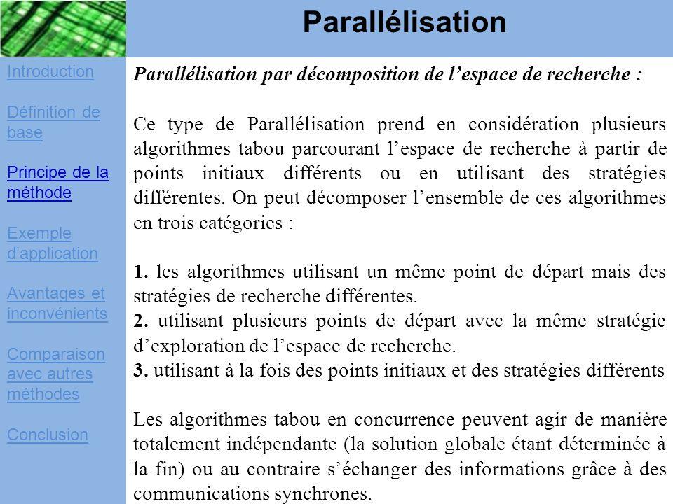 Introduction Définition de base Principe de la méthode Exemple d'application Avantages et inconvénients Comparaison avec autres méthodes Conclusion Pa