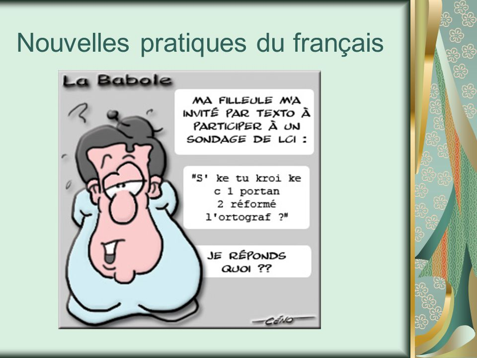 Nouvelles pratiques du français