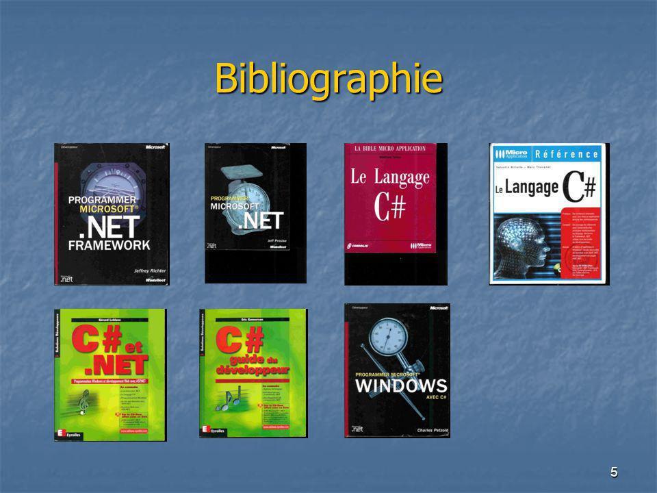 6 Le.Net Framework Deux principaux composants: Le CLR (Comon Language Runtime).