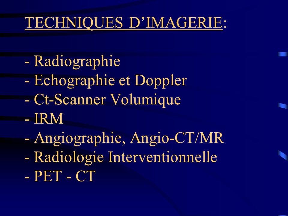 RESUME PAR REGION ANATOMIQUE: Ostéo-articulaire: - Rx pour les traumas osseux simples +- dynamique.