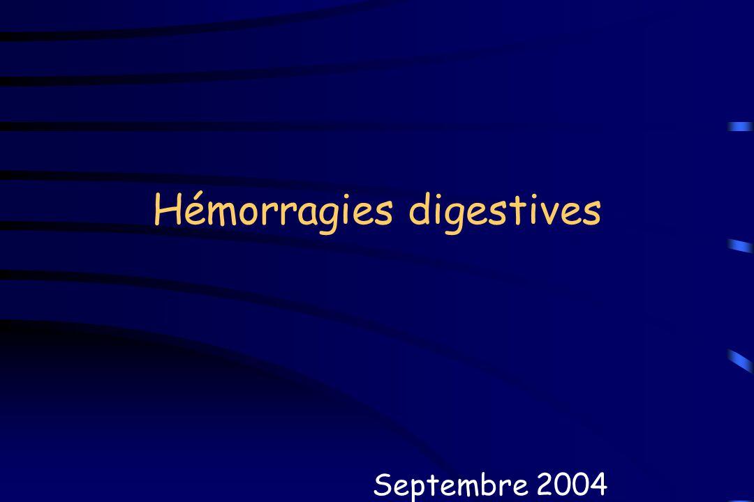 Hémorragies digestives Septembre 2004
