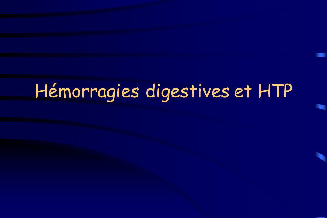 Hémorragies digestives et HTP