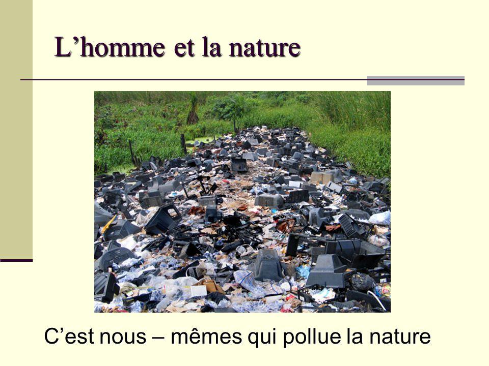 L'homme et la nature C'est nous – mêmes qui pollue la nature