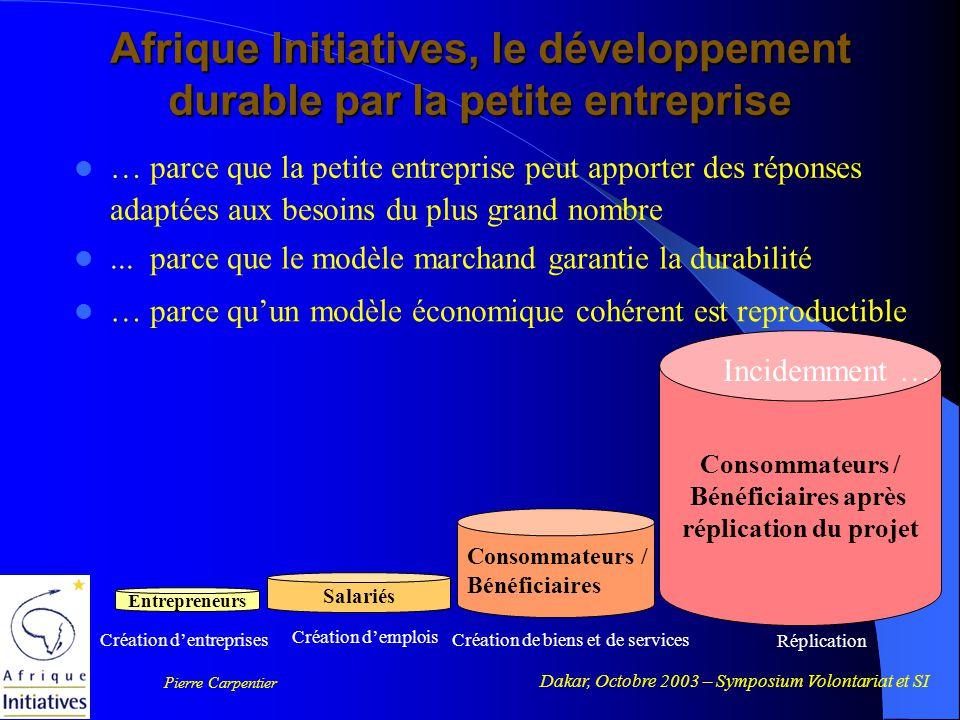 Dakar, Octobre 2003 – Symposium Volontariat et SI Pierre Carpentier Merci de votre attention www.afrique-initiatives.com pcarpentier@afrique-initiatives.com www.afrique-initiatives.com