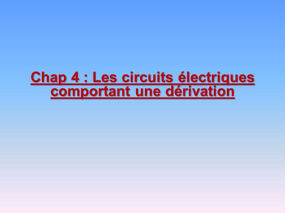Chap 4 : Les circuits électriques comportant une dérivation