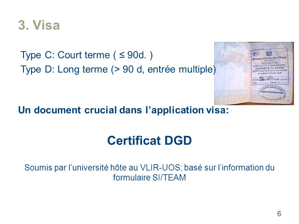3. Visa Type C: Court terme ( ≤ 90d.
