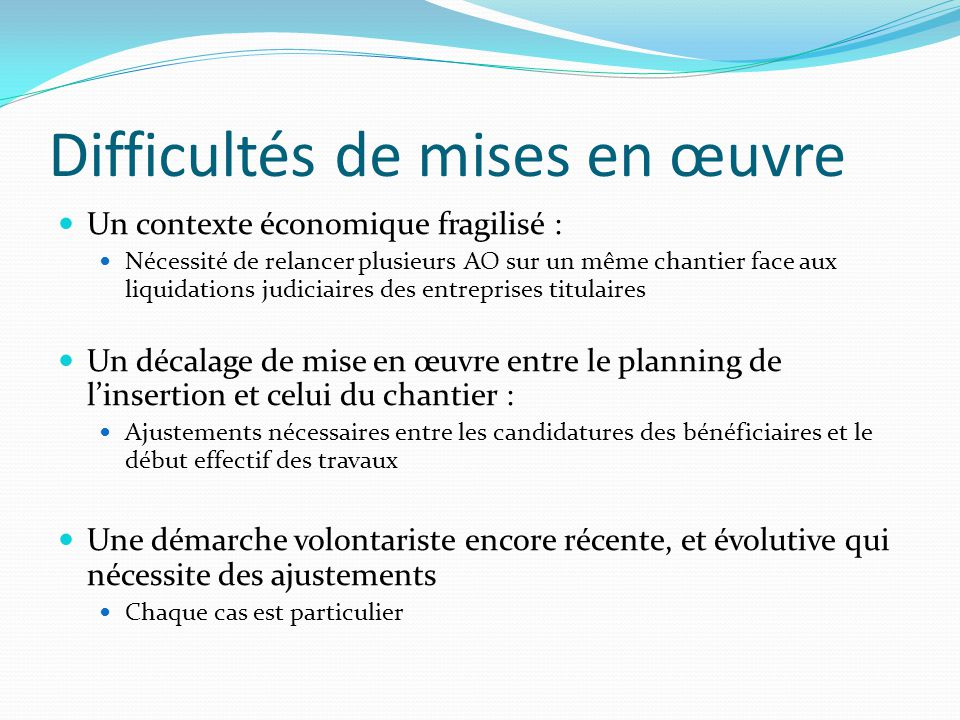 Projection 2012 ADEICEM ADEICEM + ESPACE SUD ADEICEM + ESPACE SUD + CCNM 30 bénéficiaires 12 bénéficiaires