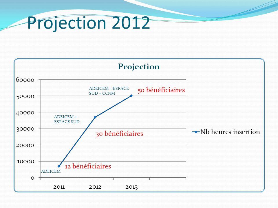 Etat d'avancement en 2012 La S.I.MAR a programmé pour l'année 2012 : Environ 37 000 heures d'insertion dont 15 0000 pour le territoire CACEM.