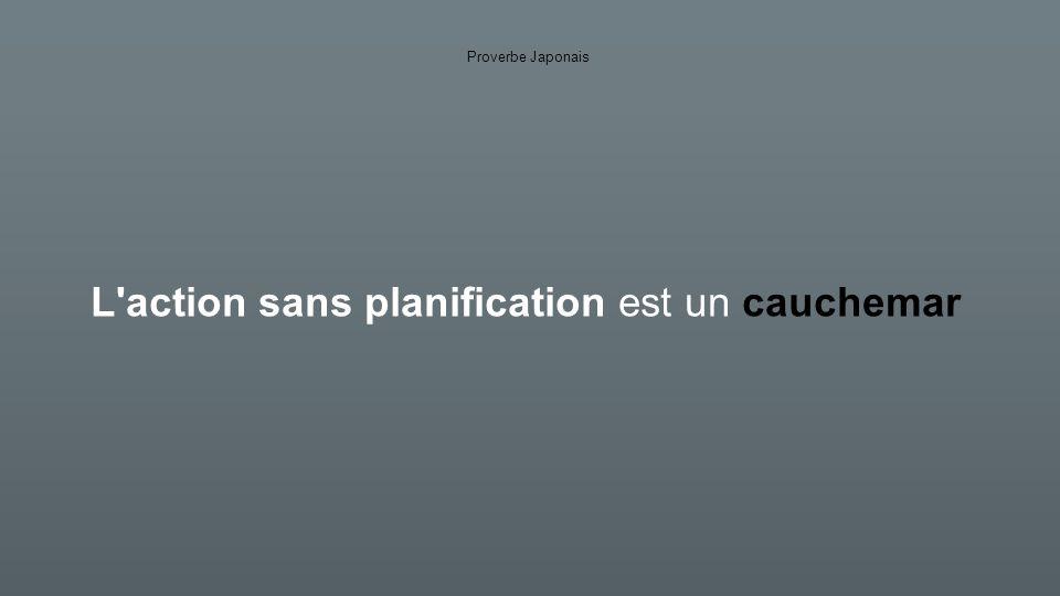 L action sans planification est un cauchemar Proverbe Japonais La planification sans action est un rêve