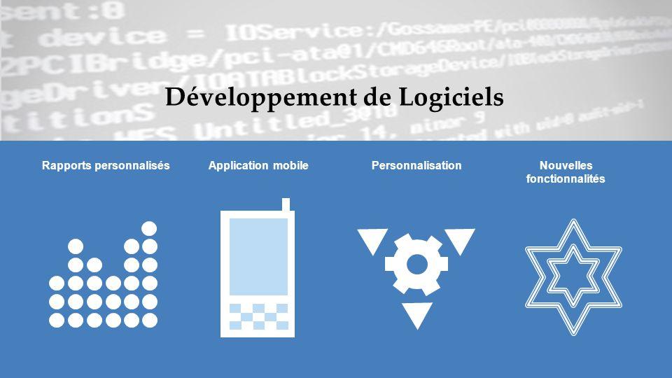 Développement de Logiciels Rapports personnalisésApplication mobilePersonnalisationNouvelles fonctionnalités
