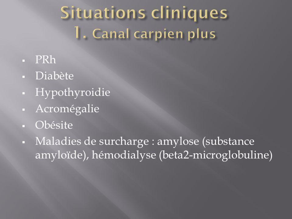  PRh  Diabète  Hypothyroidie  Acromégalie  Obésite  Maladies de surcharge : amylose (substance amyloïde), hémodialyse (beta2-microglobuline)