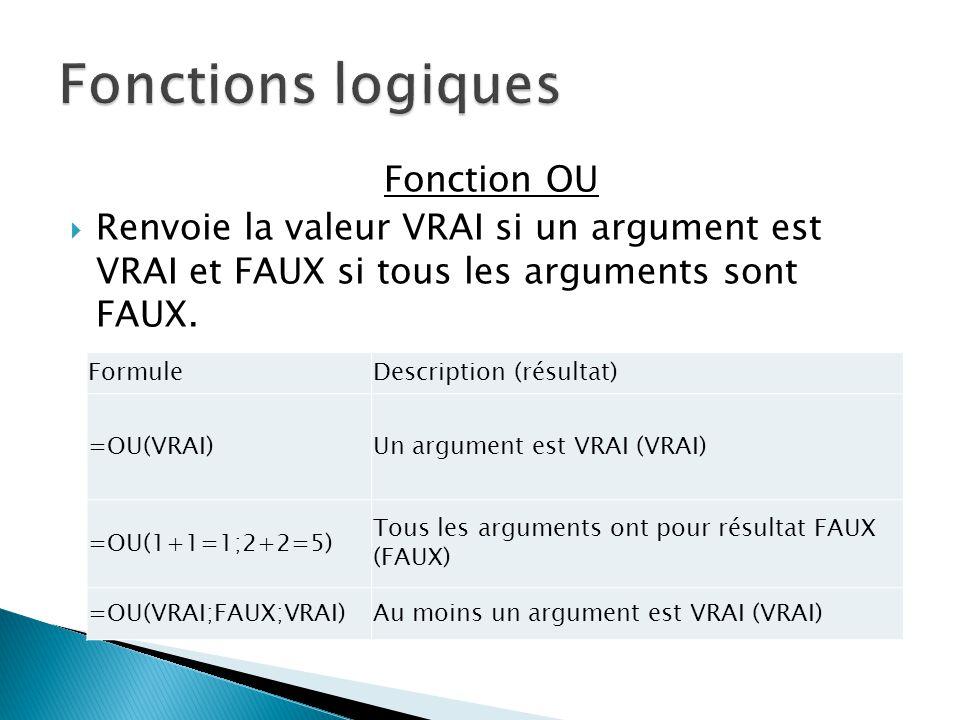  La fonction RECHERCHE renvoie une valeur provenant soit d'une plage (plage : deux cellules au minimum d'une feuille de calcul.