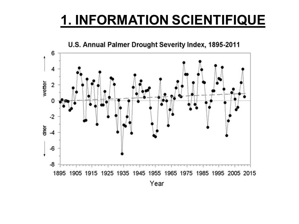Drought Severity Rating 1. INFORMATION SCIENTIFIQUE