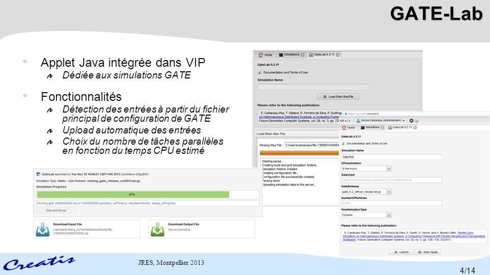 JRES, Montpellier 2013 User Web portal 0.Login 1.