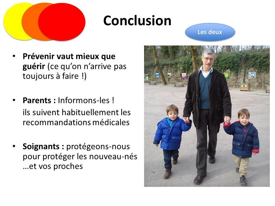 Conclusion Prévenir vaut mieux que guérir (ce qu'on n'arrive pas toujours à faire !) Parents : Informons-les ! ils suivent habituellement les recomman