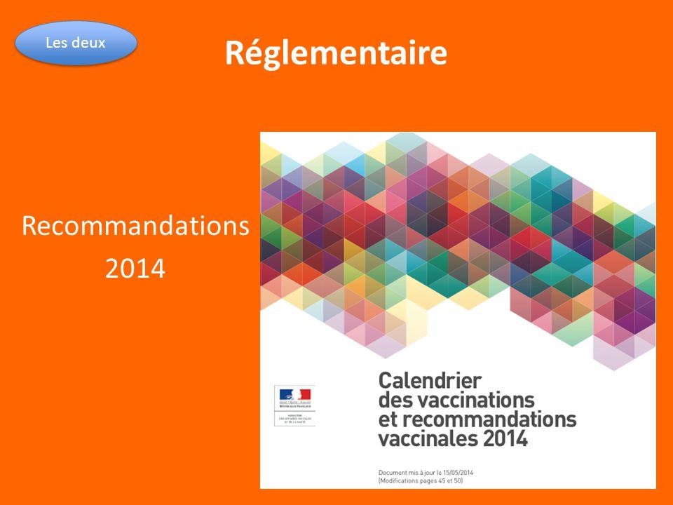 Réglementaire Recommandations 2014 Les deux