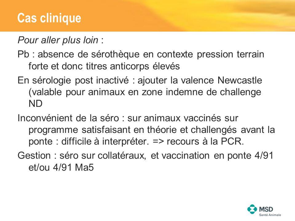 Pour aller plus loin : Pb : absence de sérothèque en contexte pression terrain forte et donc titres anticorps élevés En sérologie post inactivé : ajou