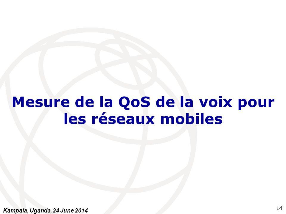 Mesure de la QoS de la voix pour les réseaux mobiles 14 Kampala, Uganda, 24 June 2014