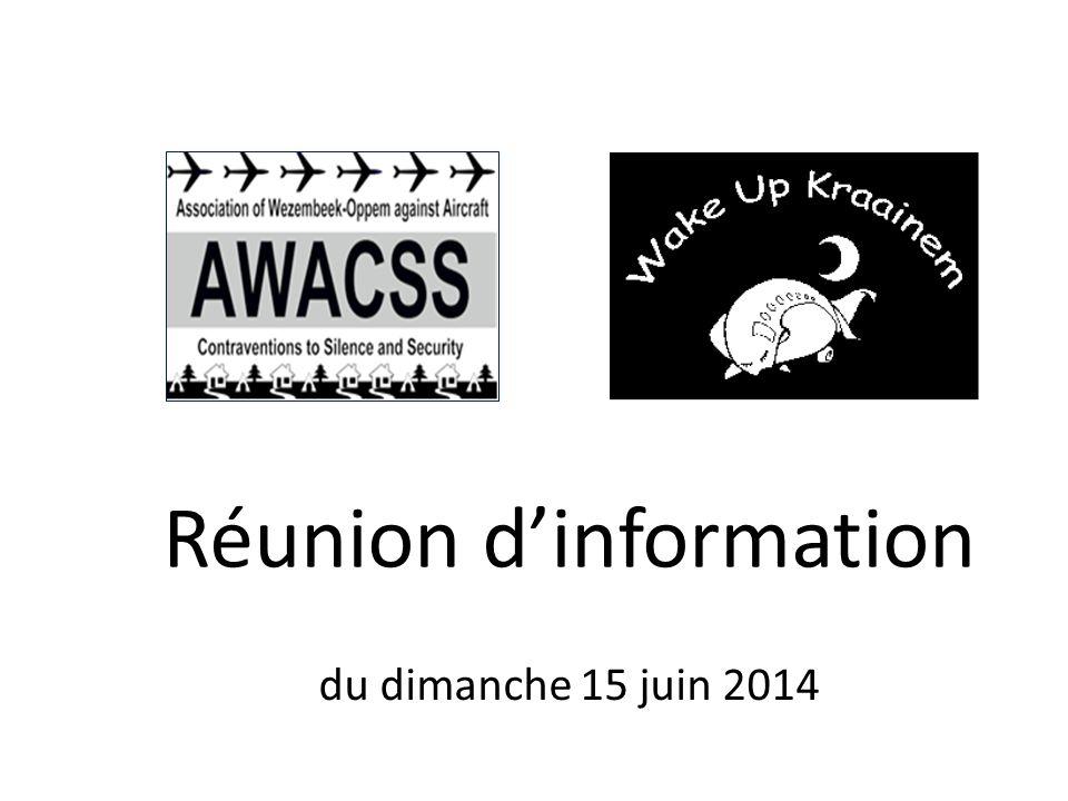 Réunion d'information du dimanche 15 juin 2014