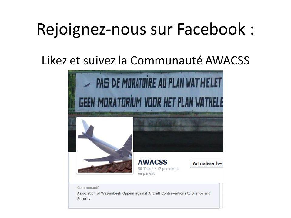 Rejoignez-nous sur Facebook : Likez et suivez la Communauté AWACSS
