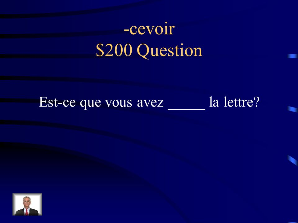 -cevoir $100 Answer Il aperçoit la Tour Eiffel!