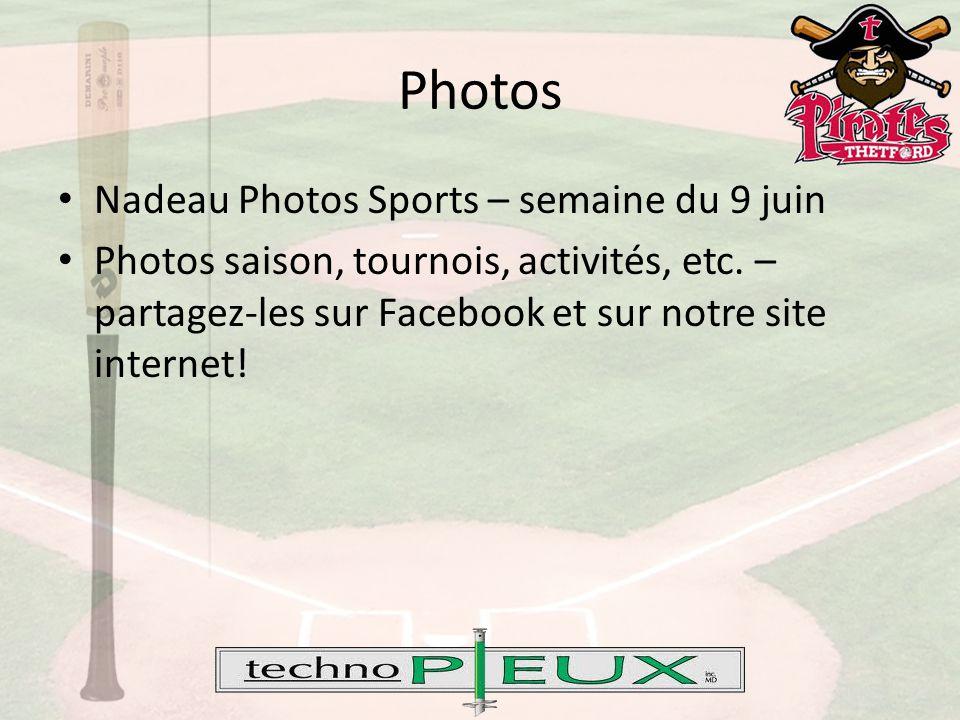 Nadeau Photos Sports – semaine du 9 juin Photos saison, tournois, activités, etc.