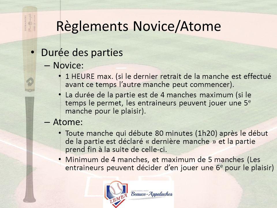 Règlements Communs Moustique-Peewee-Bantam 1.9 Différence d'un pointage de 10 points Si une équipe a une avance de dix (10) points sur son adversaire, la partie cesse.