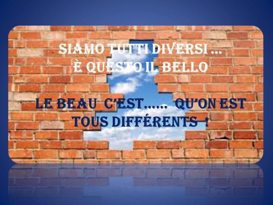 Siamo tutti diversi … è questo il bello Le beau c'est…… qu'On est tous différents !