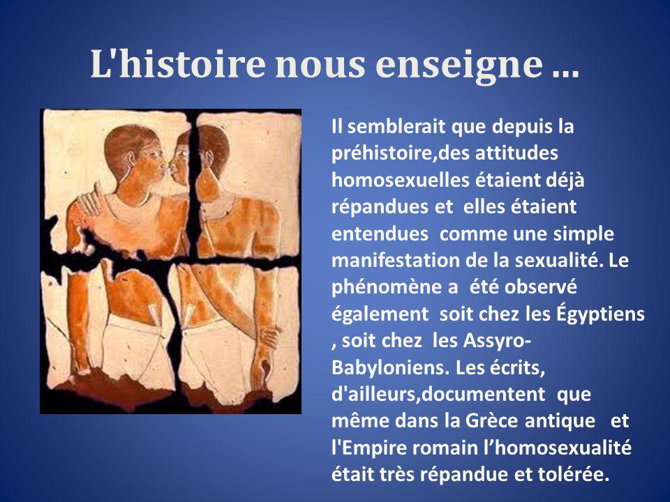 L histoire nous enseigne...