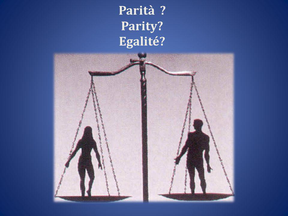 Parità Parity Egalité