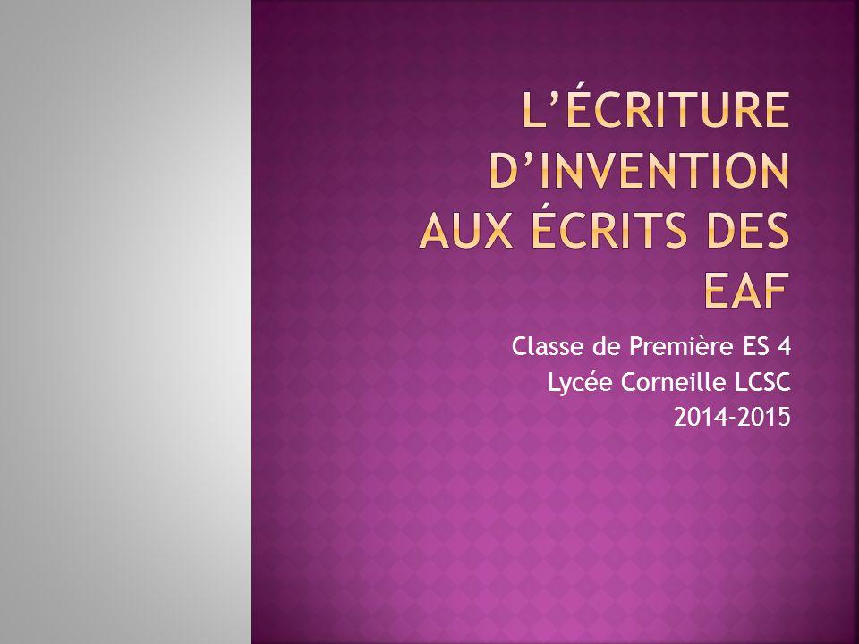 Classe de Première ES 4 Lycée Corneille LCSC 2014-2015