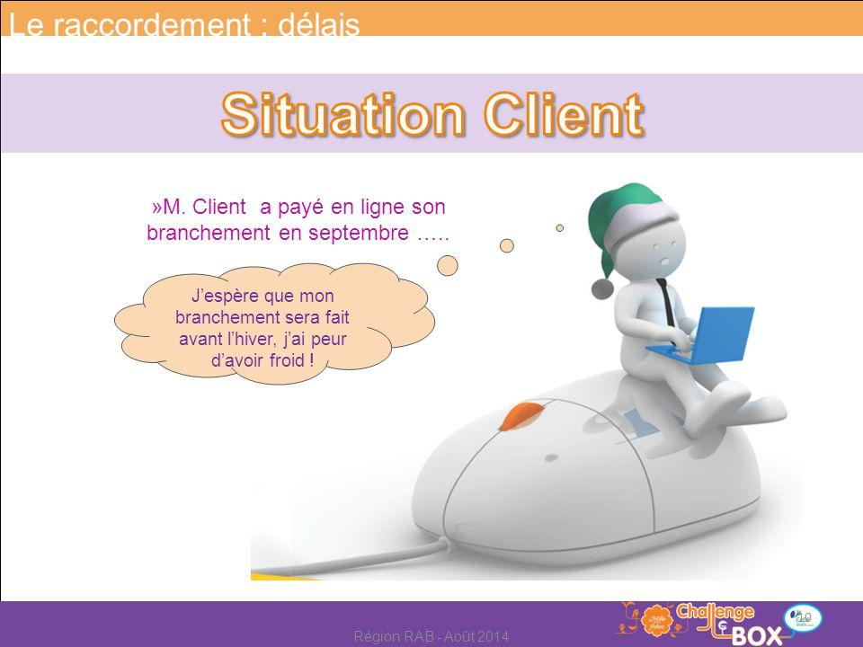 »M. Client a payé en ligne son branchement en septembre …..