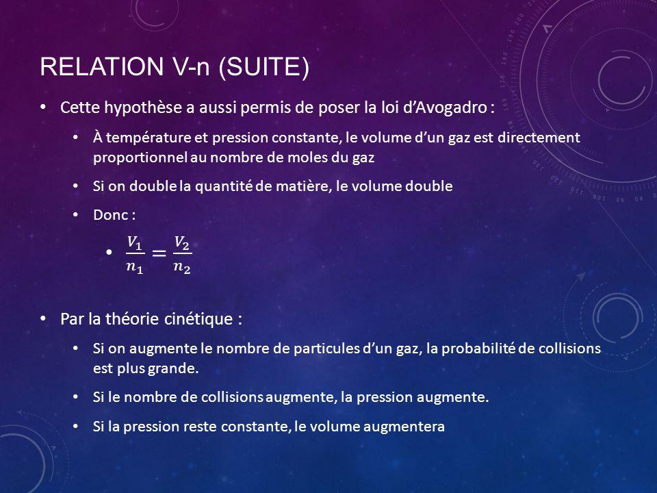 RELATION V-n (SUITE)