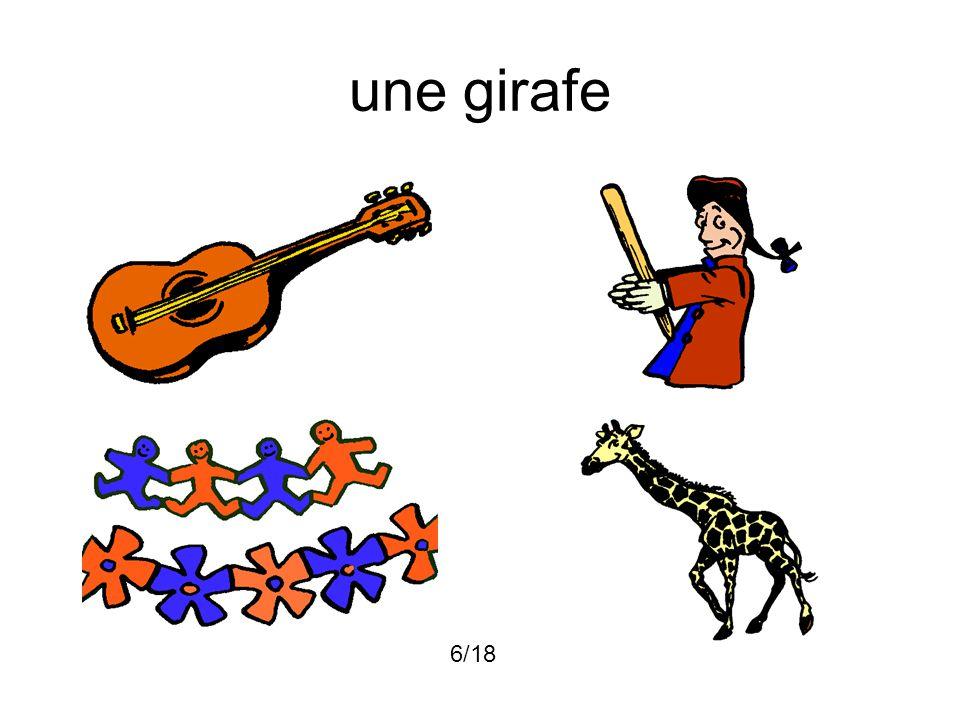 une girafe 6/18