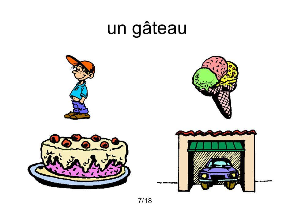 un gâteau 7/18