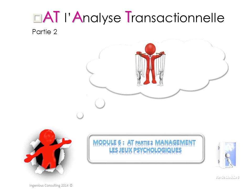  ATAT  AT l' A nalyse T ransactionnelle Partie 2 Ingenious Consulting 2014 ©
