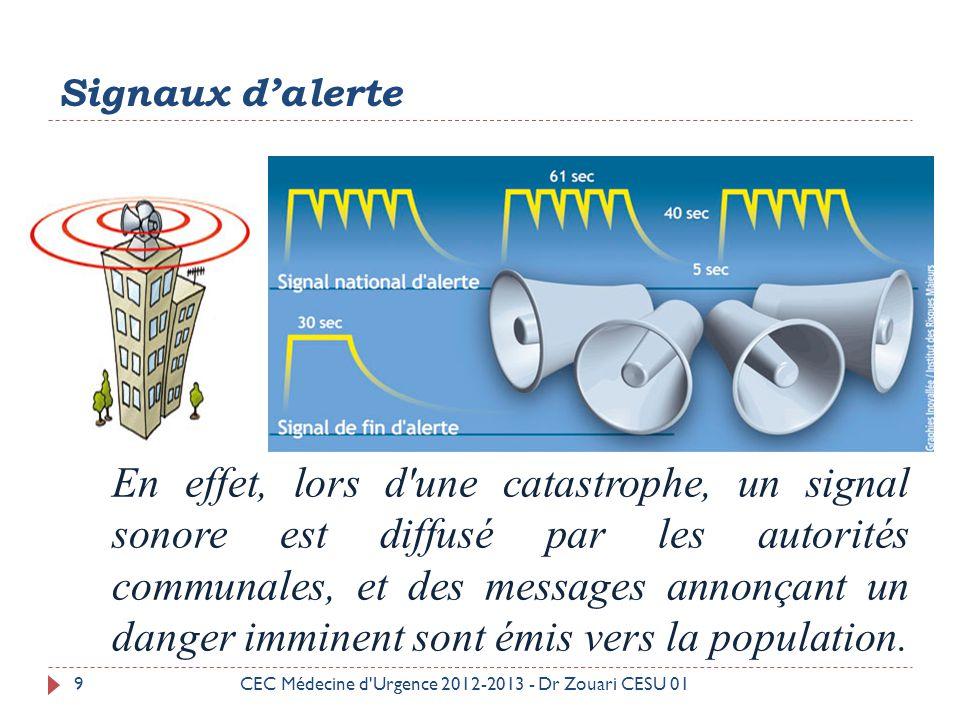 Plan ORSEC 40CEC Médecine d Urgence 2012-2013 - Dr Zouari CESU 01