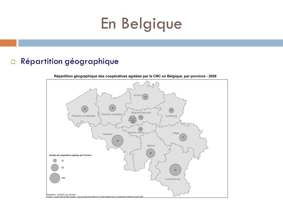 En Belgique  Répartition géographique