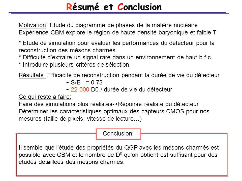 Résumé et Conclusion Motivation: Etude du diagramme de phases de la matière nucléaire.