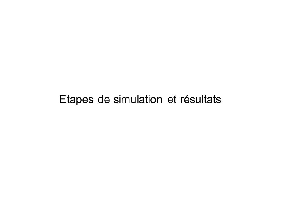 Etapes de simulation et résultats