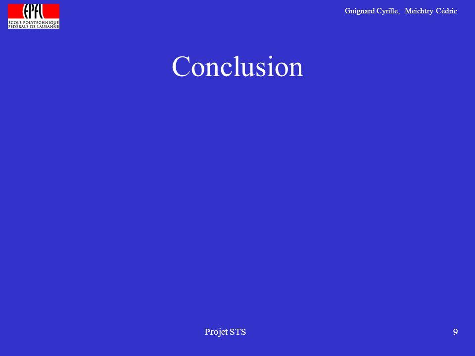Guignard Cyrille, Meichtry Cédric Projet STS9 Conclusion