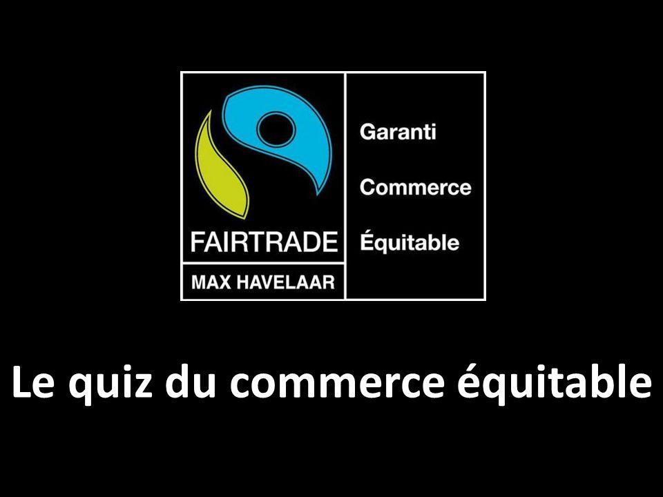 Le quiz du commerce équitable