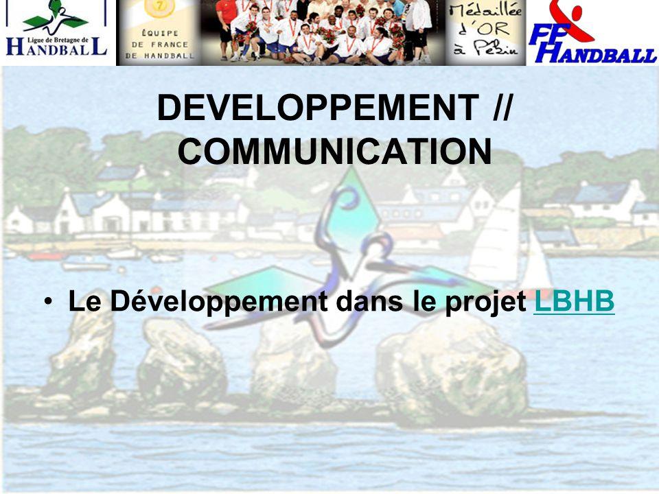 DEVELOPPEMENT // COMMUNICATION Le Développement dans le projet LBHBLBHB