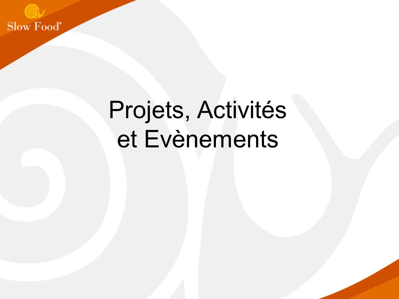 Projets, Activités et Evènements