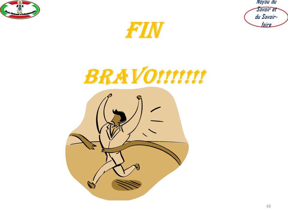 48 Fin BRAVO!!!!!!! Noyau du Savoir et du Savoir- faire